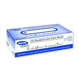 Non-Sterile Powdered Latex Examination Glove - Medium